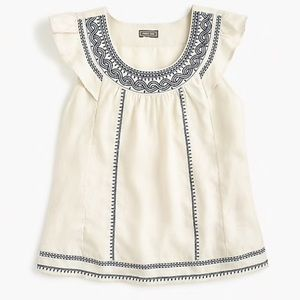 Beautiful Linen blouse with Embroidery